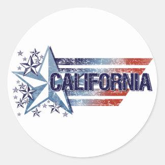 Drapeau vintage des Etats-Unis avec l'étoile - la  Autocollants
