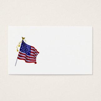 Drapeau vintage des USA dans le modèle de carte de