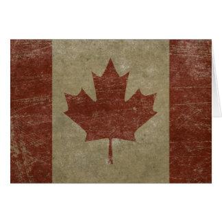 Drapeau vintage du Canada Carte De Vœux