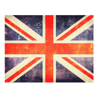 Drapeau vintage d'Union Jack Carte Postale
