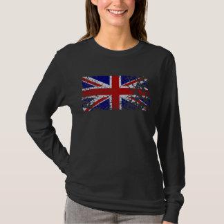 Drapeau vintage d'Union Jack de peinture T-shirt