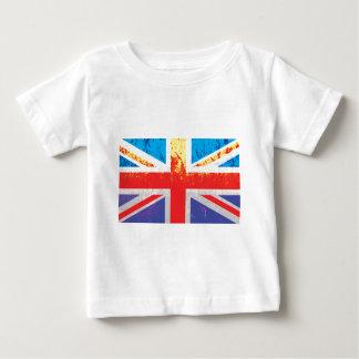 Drapeau vintage d'Union Jack les Anglais (R-U) de T-shirt