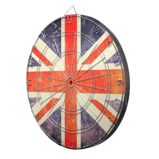 Drapeau vintage d'Union Jack Jeux De Fléchettes