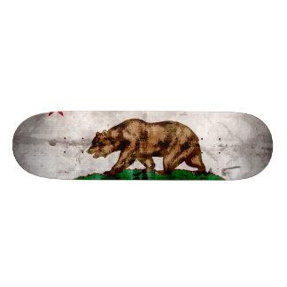 Drapeau vintage patiné d'état de la Californie Planches À Roulettes Customisées
