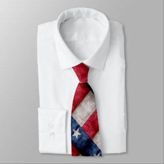 Drapeau vintage patiné d'état du Texas Cravates