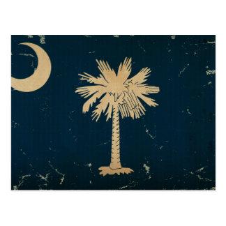 Drapeau VINTAGE.png d'état de la Caroline du Sud Carte Postale