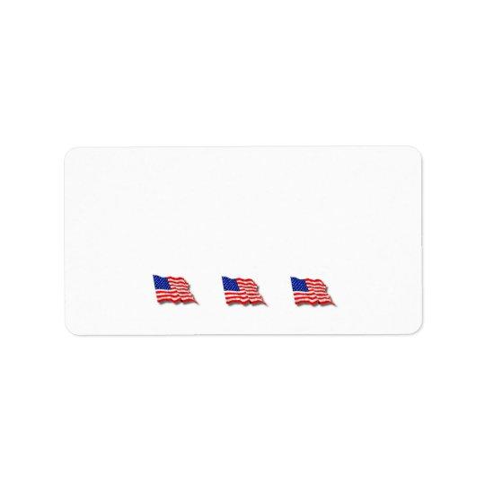 Drapeaux américains étiquette d'adresse