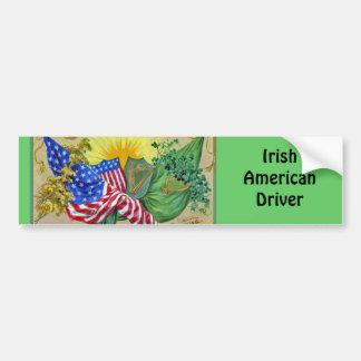 drapeaux américains irlandais autocollant pour voiture