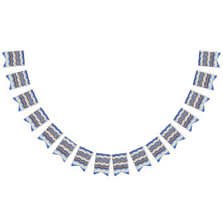 Drapeaux bleus de partie de machaon de mosaïque