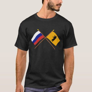 Drapeaux croisés de la Russie et de Yaroslavl T-shirt