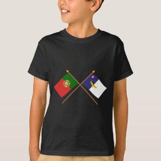 Drapeaux croisés du Portugal et des Açores T-shirt