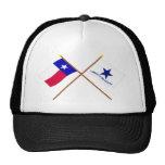 Drapeaux croisés du Texas et de Troutman Casquette De Camionneur