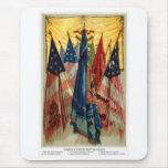 Drapeaux de bataille de guerre civile no.6 tapis de souris