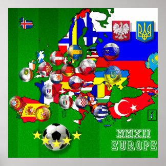 Drapeaux de la carte 2012 de drapeau de tasse du f poster