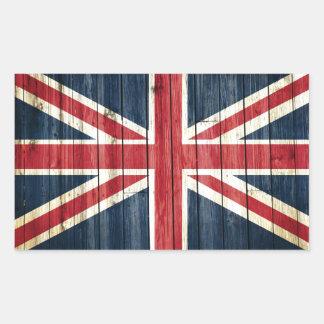 Drapeaux de pays affligés   Grande-Bretagne Sticker Rectangulaire