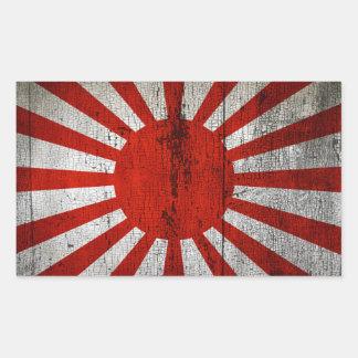 Drapeaux de pays affligés | Japon Sticker Rectangulaire