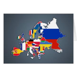 Drapeaux de pays européens de la carte  