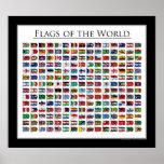Drapeaux du monde - l'affiche a mis à jour 2011