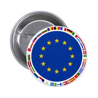 Drapeaux d'Union européenne Badge Rond 5 Cm