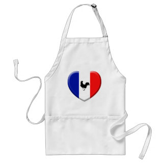 Drapeaux France love coq Tablier
