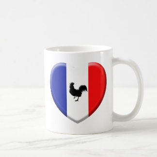 Drapeaux France love coq Tasse À Café