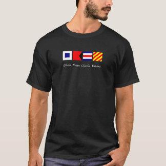 Drapeaux nautiques - chemises foncées t-shirt