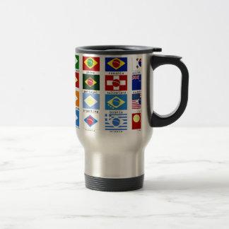 drapeaux pour la coupe du monde au brésil mug de voyage
