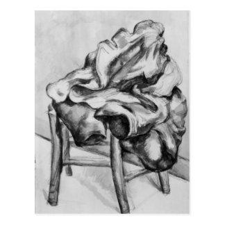 Draperie sur une chaise, 1980-1900 carte postale