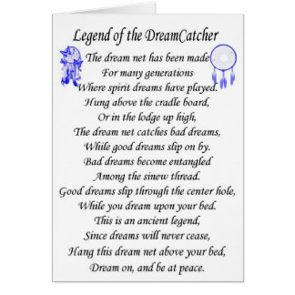 Dreamcatcher de légende carte de vœux