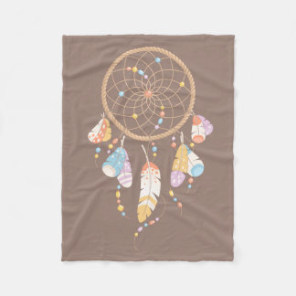 Dreamcatcher tribal Boho Brown Couverture Polaire