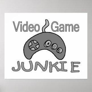 Drogué de jeu vidéo affiche
