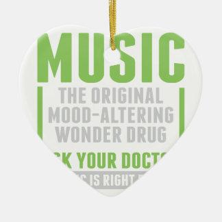 Drogue de merveille de musique ornement cœur en céramique