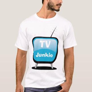 Drogué de TV - T-shirt du style TV de bande