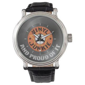 Drogué de vinyle - et fier de lui montres bracelet