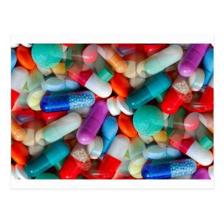 drogues de pilules cartes postales