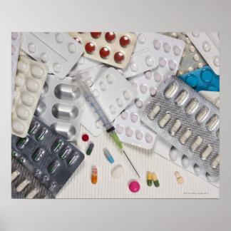 Drogues utilisées dans le traitement de médical poster