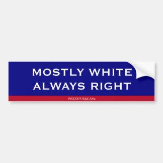 Droit blanc de Foxrepublican en grande partie touj Autocollant Pour Voiture