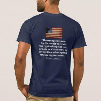 Droit de soutenir des bras - citation de Thomas T-shirt