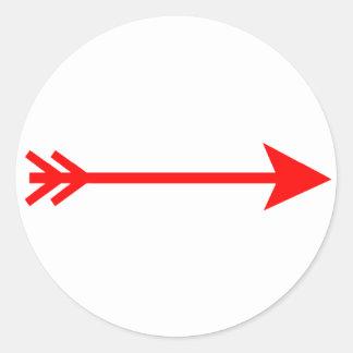 Droit rouge de flèche les cadeaux de Zazzle de Autocollants Ronds