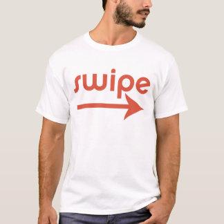 Droite de grand coup t-shirt