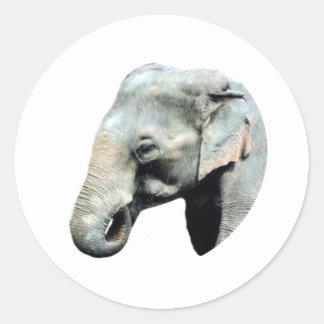 Droite d'éléphant de l'Indochine les cadeaux de Sticker Rond
