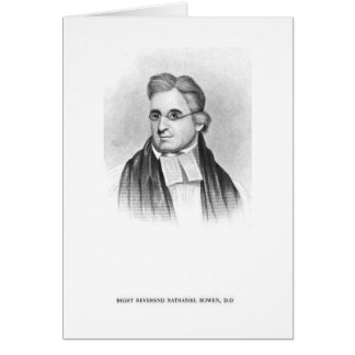 Droite. Rev. Nathaniel Bowen Cartes De Vœux