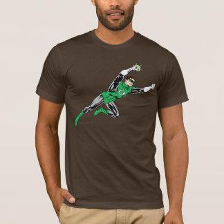 Droite verte de mouche de lanterne t-shirt