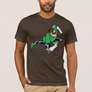Droite verte de saut de lanterne t-shirt