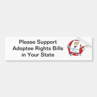 Droits d'adopté de soutien autocollant de voiture