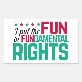 Droits fondamentaux sticker rectangulaire