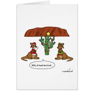 Drôle au moins nous avons essayé la carte de Noël