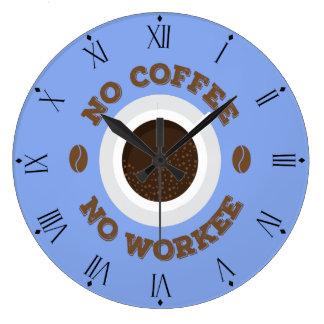 Drôle aucun café aucune horloge murale de cuisine