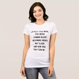 Drôle blanc de noir lyrique de T-shirt de