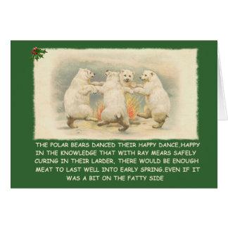 Drôle bonnes fêtes carte de vœux